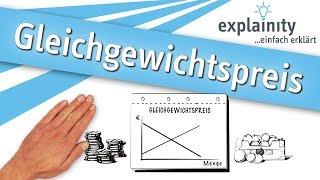 Gleichgewichtspreis einfach erklärt (explainity® Erklärvideo)