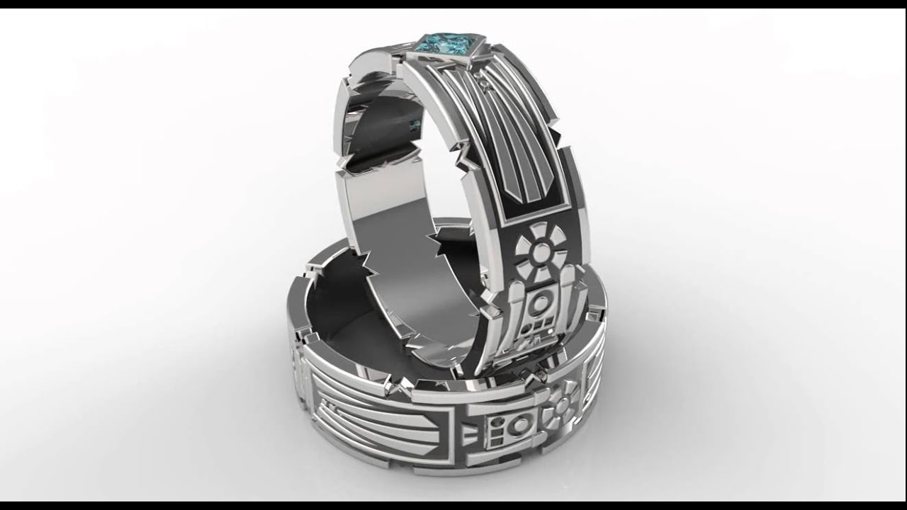 Star Wars Wedding Ring With Aquamarine Two Tonefort Fit Ring