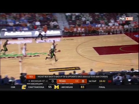Highlights: Michigan State vs. Texas | Big Ten Basketball