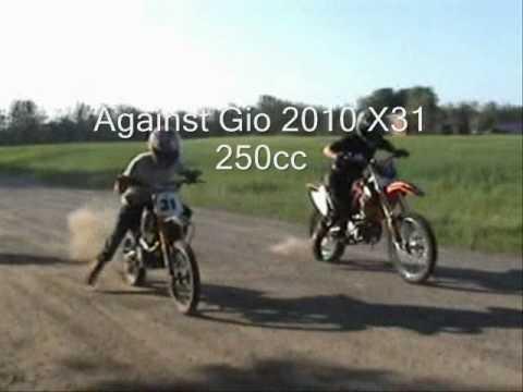 2010 Giobikes X37 250cc Dirt Bike Liquid Cooled Youtube