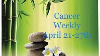 "Cancer ♋️ Weekly April 21-27th ""reconciling after you hear the truth"""