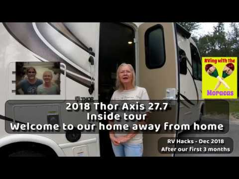 RV Hacks - Inside Tour of our 2018 Thor Axis 27 7 RV