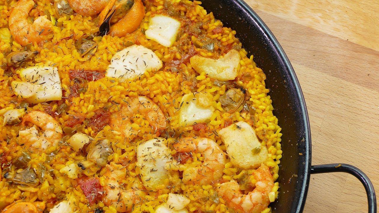 Paella de marisco recetas de cocina faciles y rapidas for Cenas rapidas y economicas