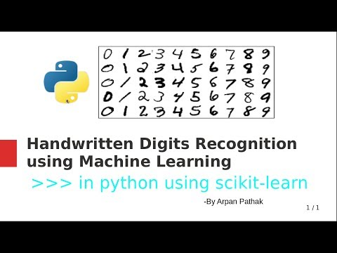 Handwritten Digits Recognition in python using scikit-learn - YouTube