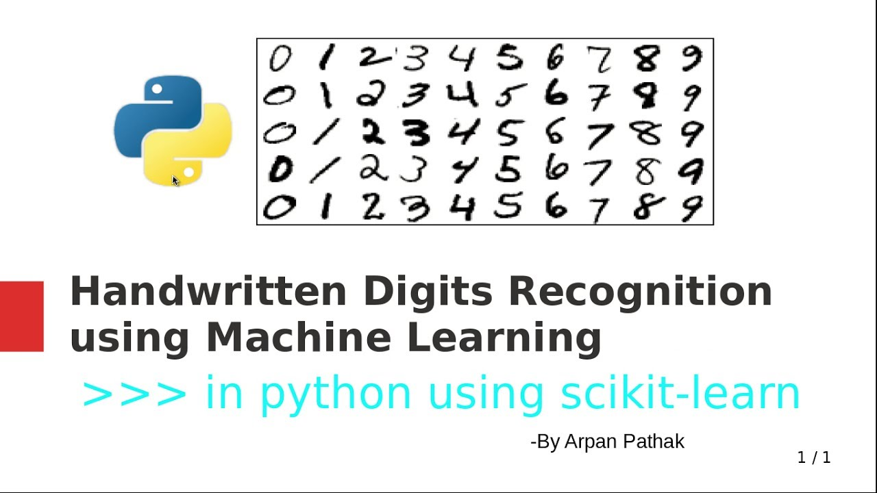 Handwritten Digits Recognition in python using scikit-learn