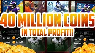 HOW I MADE OVER 40 MILLION BY INVESTING!! MADDEN MOBILE 17 PROFIT - COIN METHOD AND EXPLANATION!