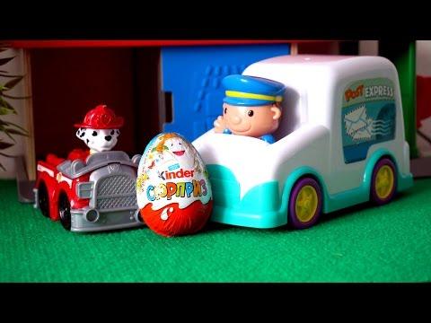 Видео с игрушками. Почтовая машина. Киндер Сюрпризы