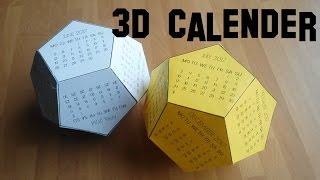 DIY 3D Calendar | Gör Det Själv: 3D Kalender