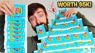 Déballage 1000 Fortnite TRADING CARDS! (Ouverture la plus heureuse)