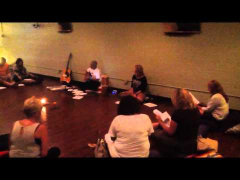 Leading My First Kirtan - July 19, 2014 at Garden of Zen Yoga Studio IMG 3121