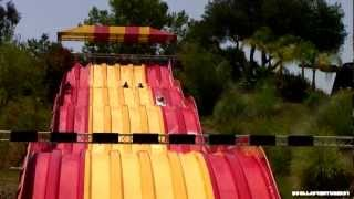 HD POV - Raging Racer Water Slides POV - Raging Waters Water Park, San Dimas