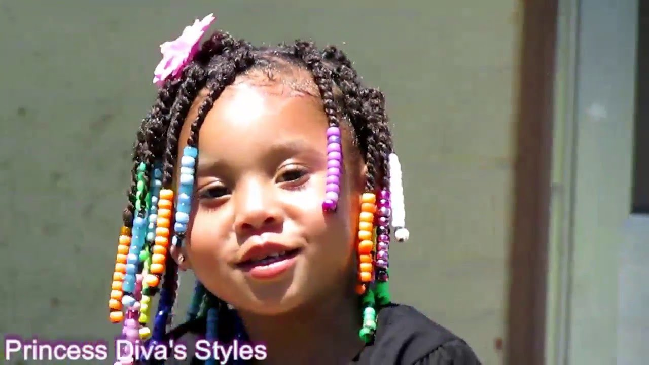 Princess Boo Toddler Hair Twists W Beads YouTube