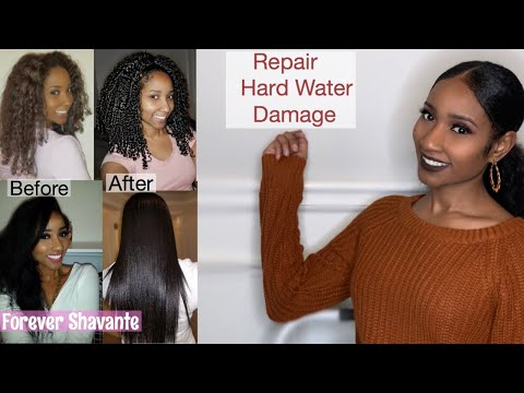 How To   Repair / Fix  Hard Water Damage On Natural Hair   With Pictures