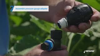 How to measure sprinkler pressure | Netafim