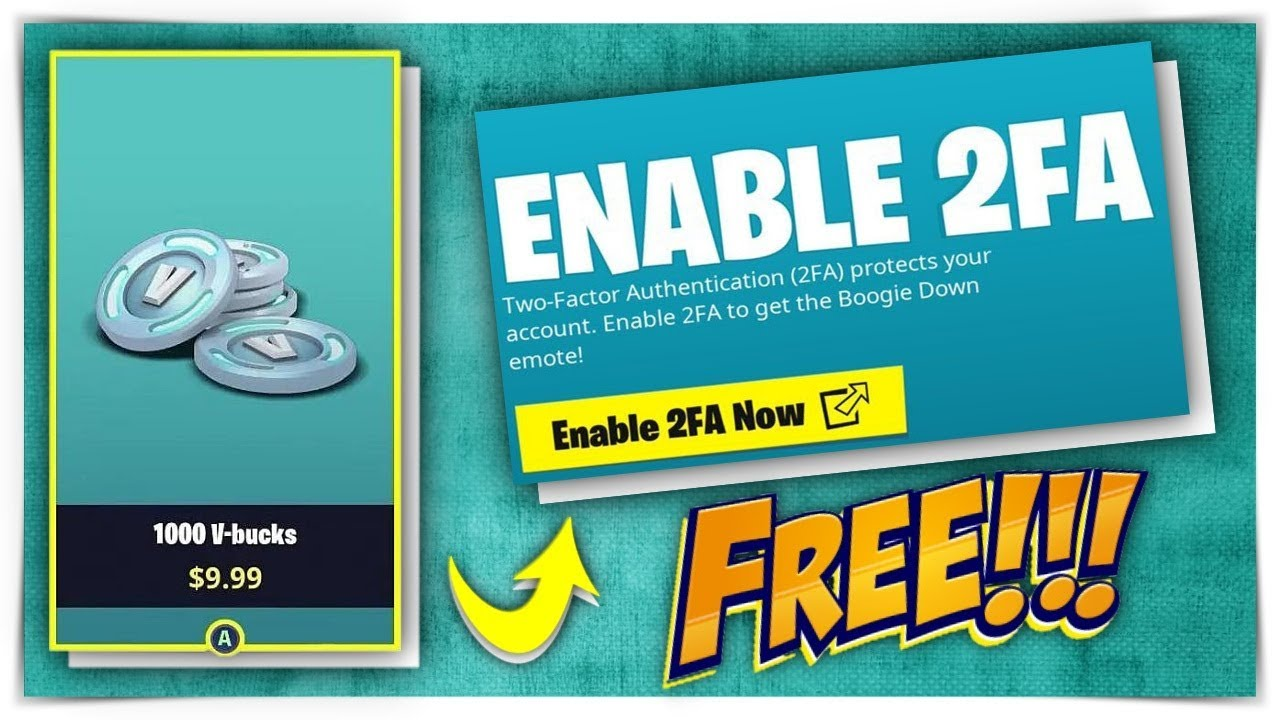 HOW TO REDEEM FREE $10 IN FORTNITE | HOW TO ENABLE 2FA ...