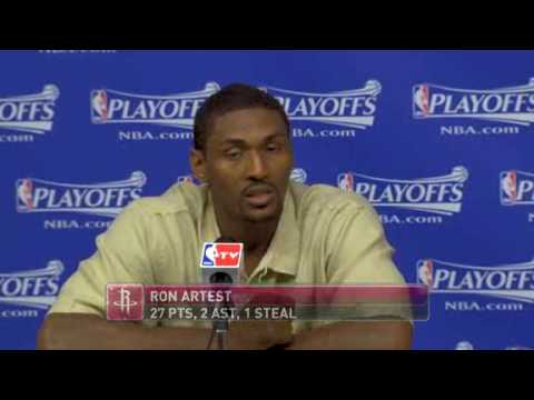 postgame ron artest and yao ming youtube