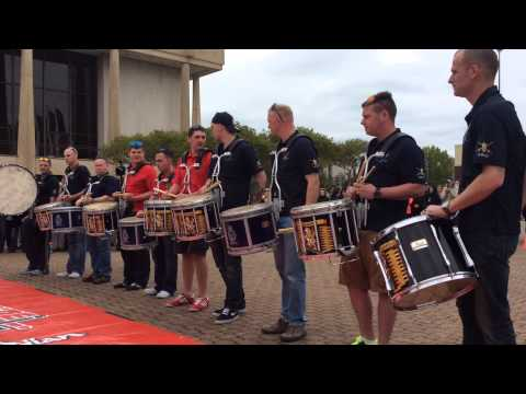 Quantico Marine Band DrumLine Battle Scots Guards, 8 Wing, and Closkelt