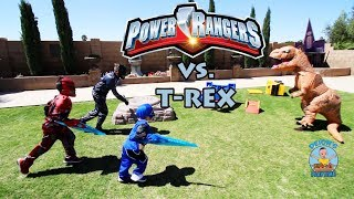 POWER RANGERS UNITE TO DEFEAT THE T-REX
