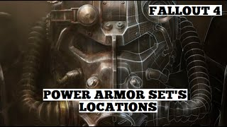 Fallout 4 - Full Sets of All Power Armor Types Locations ( Raiders, T-45, T-51, T-60, X-01 )