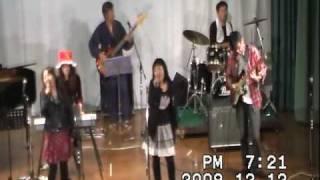 えまのん(6th) 2009年12月12日、岡山市北区吉備津ライヴワン「セピア」...