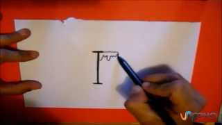 Dibujar aprovechando la letra I - Draw with the letter I