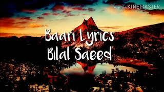 Baari song bilal saeed