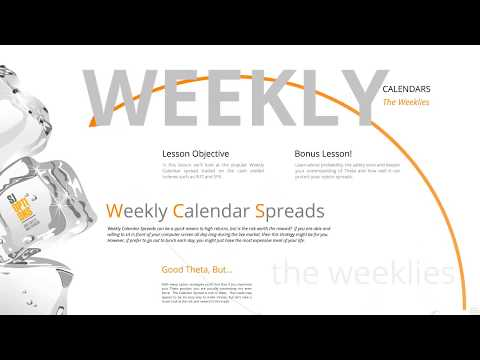Trading calendar spreads with weekly options
