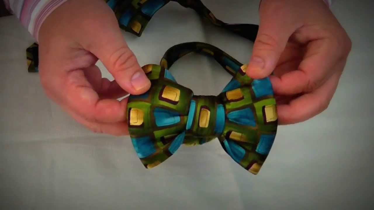 Make a fabulous bow tie out of a regular tie youtube ccuart Image collections