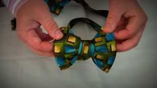 Make a Fabulous Bow Tie out of a regular tie!