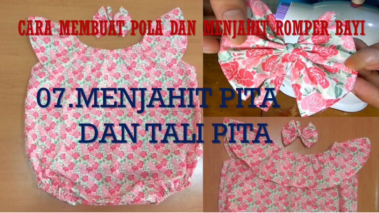 Cara Membuat Pola Dan Menjahit Baju Dress Romper Bayi Bagian 7