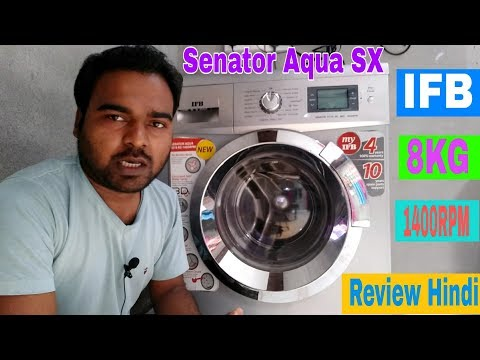 IFB Senator Aqua SX 1400RPM 8kg fully-automatic front loading washing machine Review, Demo, Tutorial