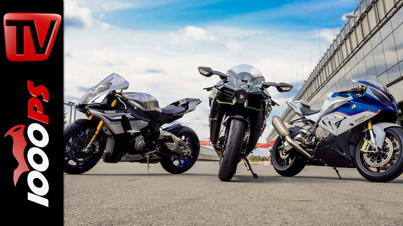 Kawasaki Ninja H2r >> Soundvergleich | Kawasaki H2 vs Yamaha R1M vs BMW S1000RR - YouTube