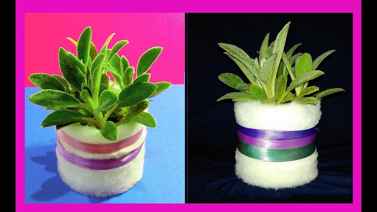 Decorate a Plastic Flower Pot Ideas