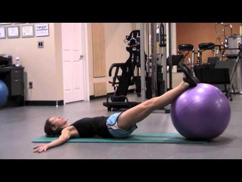 Supine Hip Extension Feet On Ball