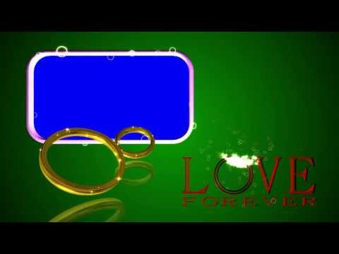 Wedding Rings Blue Screen LOVE FOREVER Background Video Effect Footage AA VFX thumbnail