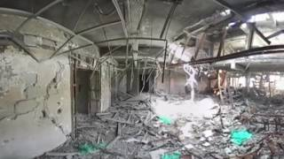 Iraq: See 360° footage of Mosul university library in ruins following anti-IS operation