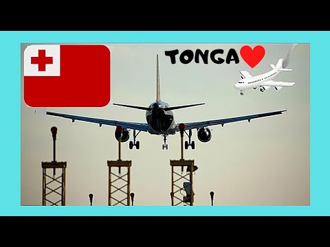 LANDING in beautiful TONGA (views of TONGATAPU ISLAND), Paci