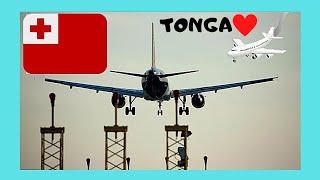 LANDING in beautiful TONGA (views of TONGATAPU ISLAND), Pacific Ocean