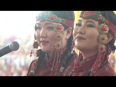 Mongolian artists performing for His Holiness the Dalai Lama