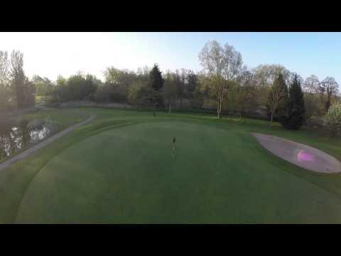 Abbey Park Golf Club Redditch 10th Hole Phantom 2 Aerial Video