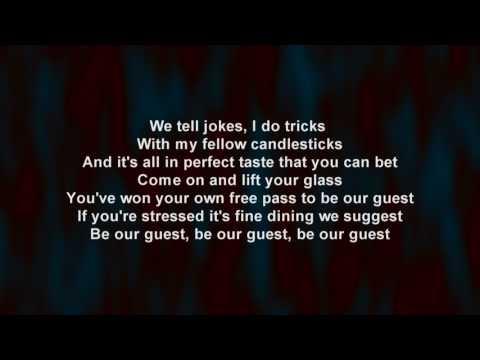 Ewan McGregor & Emma Thompson - Be Our Guest (lyric video)