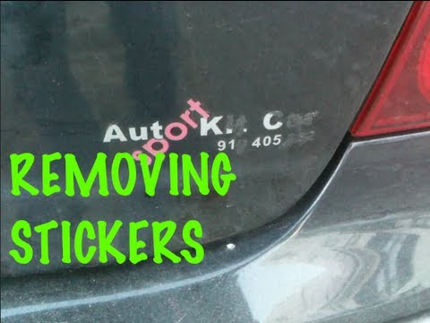 How to remove stickers from your car's glass and body