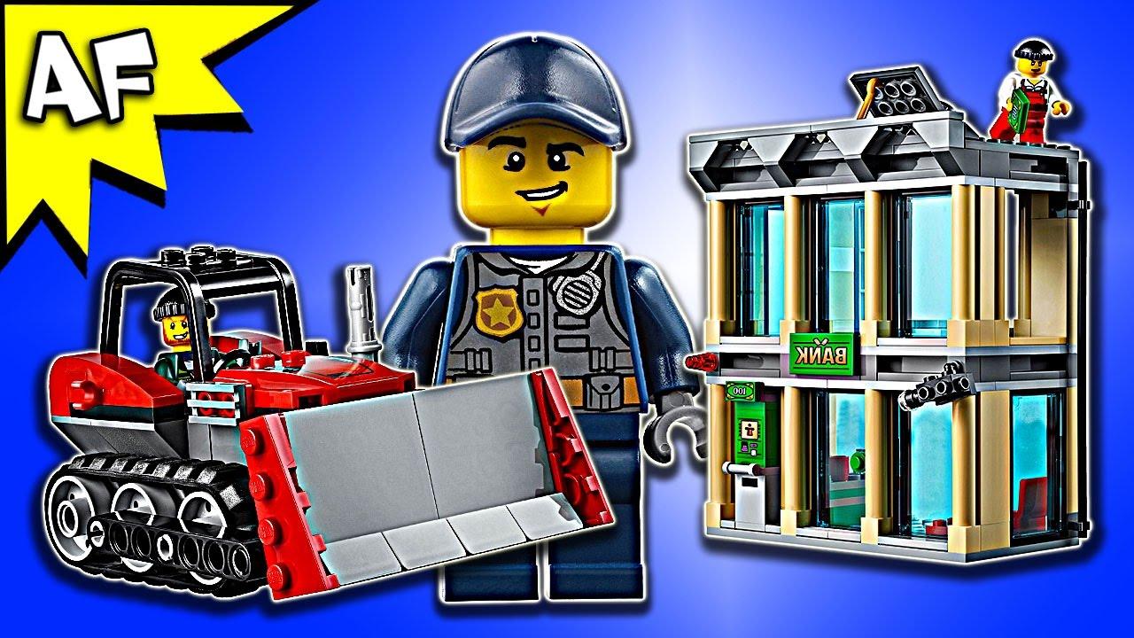 lego city police bulldozer break in 60140 speed build