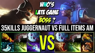 How Can This Juggernaut is Better Than AM in Late Game | Epic Battle 35Kills Vs Full Slots AM Dota 2