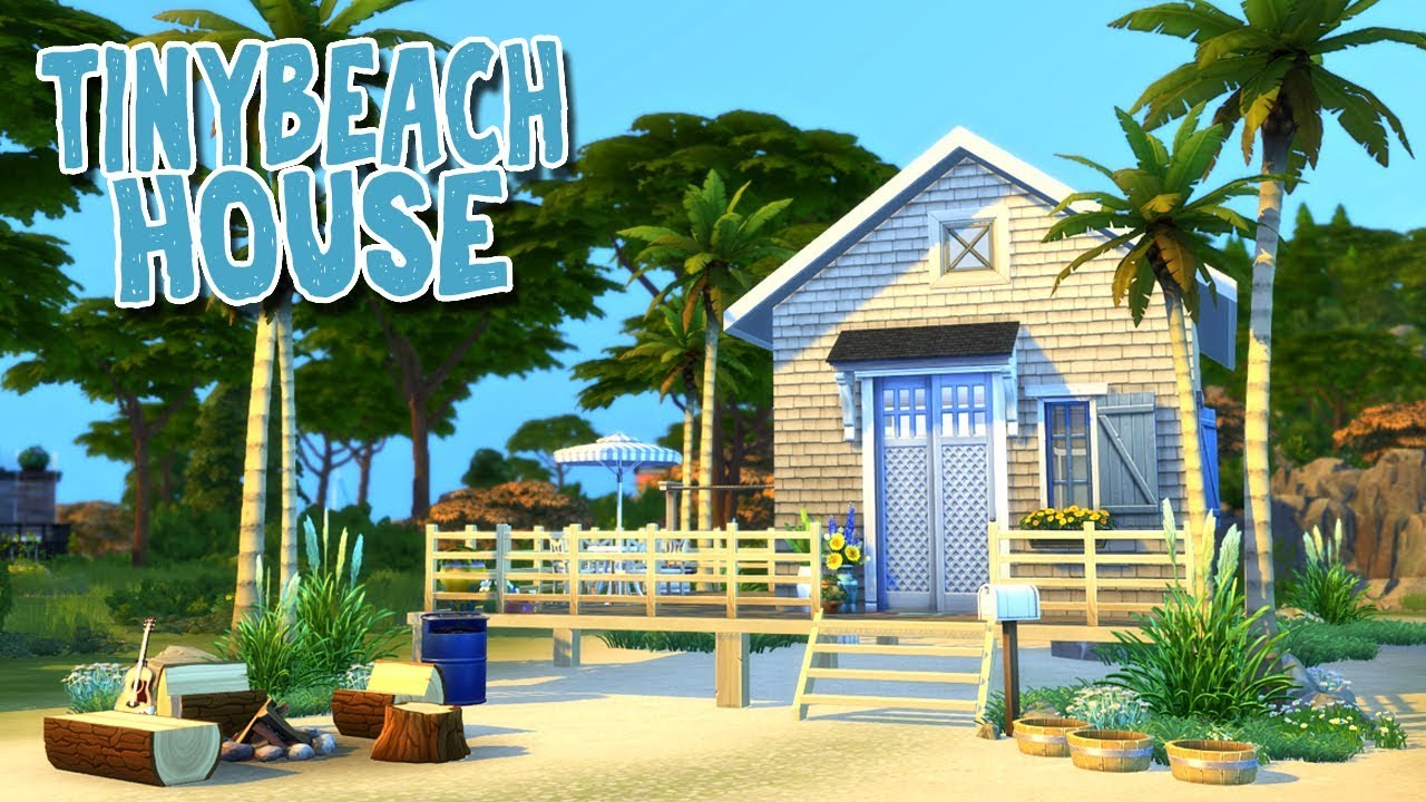 Tiny Beach House On A Stilt Foundation! 🌴 The Sims 4: Speed Build