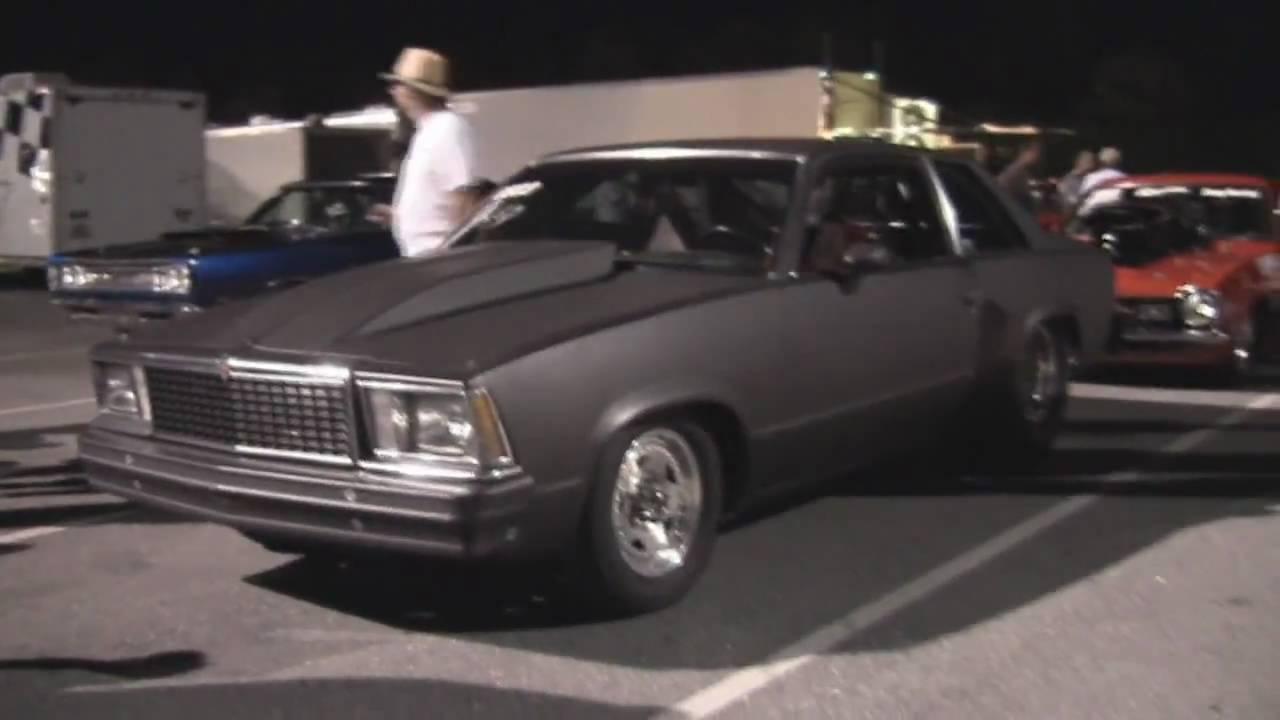 Black Malibu Drag Car walk around - YouTube
