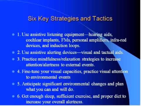WEBINAR: Communication/Coping Strategies for Accommodating Hearing Loss