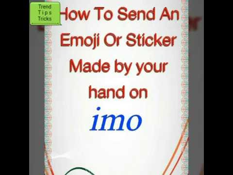 how to make an emoji or sticker to send on imo