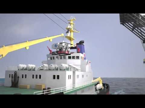 Subsea and oil rig test render with maxwell