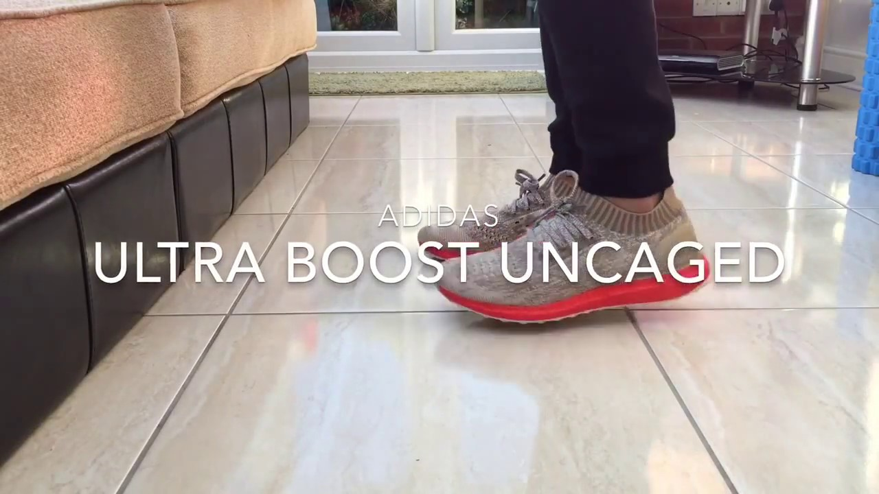 c1063586a Adidas Ultra Boost Uncaged Tan Solar Red - Quick on feet - YouTube